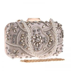 Handmade Beaded Evening Bag Apricot