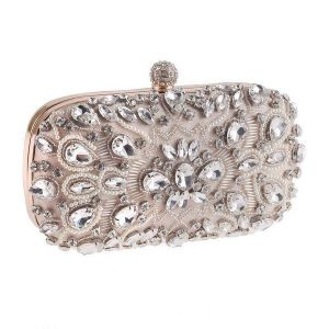 Rhinestone Evening Bag Apricot