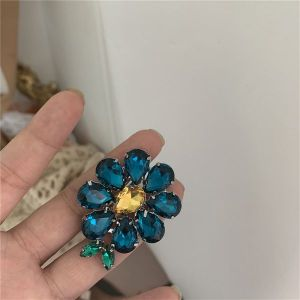 Retro Large Color Crystal Ring