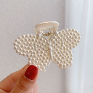 NEW PEARL BACK HEAD HAIR CLIP - BUTTERFLY