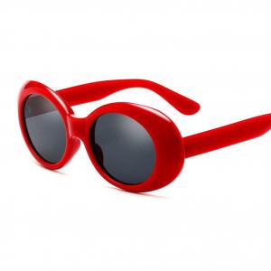 Retro Oval Red Sunglasses