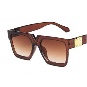 V-shaped Nose Bridge Square Sunglasses