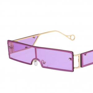 Purple Rivet Personality Metal Retro Sunglasses