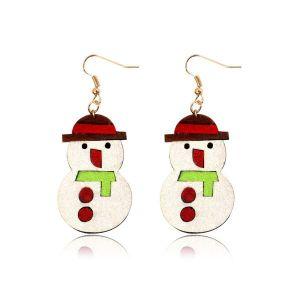 Christmas Snowman Non-woven Collection Fashion Earrings
