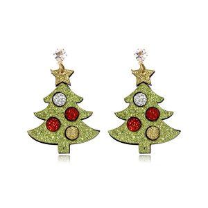 Christmas Tree Non-woven Collection Fashion Earrings