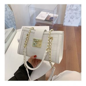 LADIES CHAIN BAG - WHITE